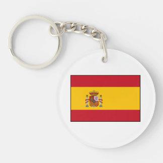 Spain – Spanish Flag Double-Sided Round Acrylic Keychain