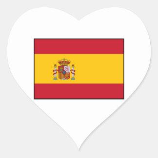 Spain – Spanish Flag Heart Sticker