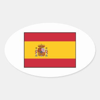 Spain – Spanish Flag Oval Sticker