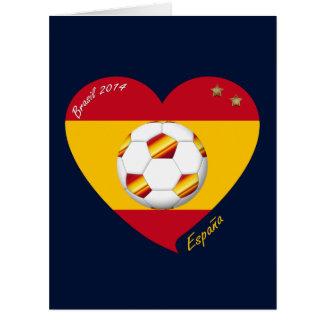 "Spain Spanish Football Soccer Team SOCCER ""SPAIN "" Greeting Card"