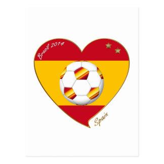 """""""SPAIN"""" Spanish FOOTBALL Soccer Team SPAIN SOCCER Post Card"""