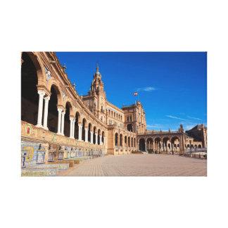 Spain square, Seville Canvas Print