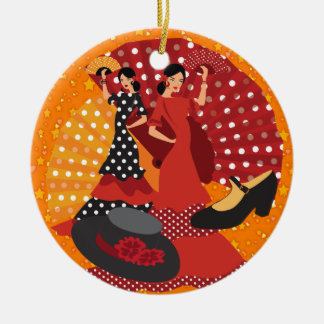 Spain - SRF Double-Sided Ceramic Round Christmas Ornament