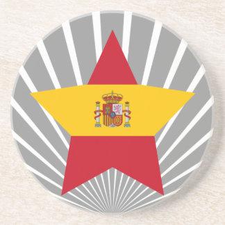 Spain Star Beverage Coasters