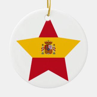 Spain Star Christmas Tree Ornament