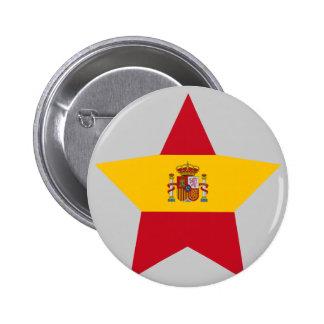 Spain Star Pinback Button