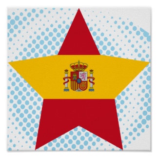 Spain Star Print