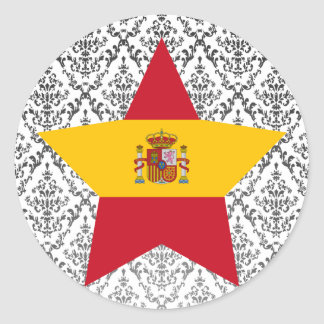 Spain Star Stickers