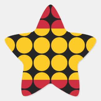 Spain Stylish Girly Chic : Polka Dot Spanish Flag Star Sticker