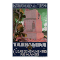 Spain Tarragona Vintage Travel Poster Restored