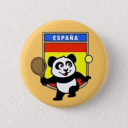 Spanish Tennis Panda Round Button