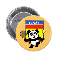 Round Button with Spanish Tennis Panda design
