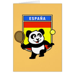 Greeting Card with Spanish Tennis Panda design