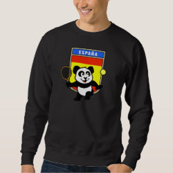 Men's Basic Sweatshirt with Spanish Tennis Panda design