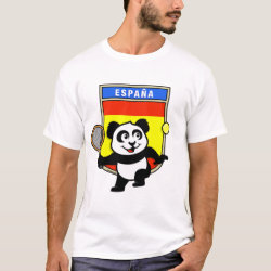 Men's Basic T-Shirt with Spanish Tennis Panda design