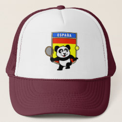 Spanish Tennis Panda Trucker Hat