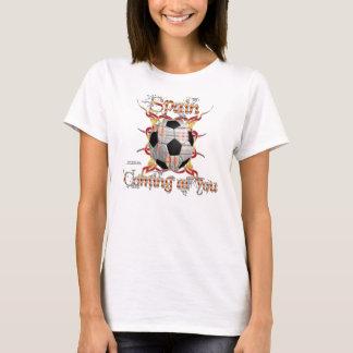 Spain Tribal Soccer Ladies ComfortSoft T-Shirt