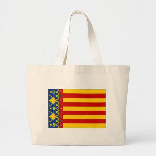 Spain Valencia Flag Large Tote Bag
