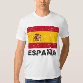Spain Vintage Flag T Shirt