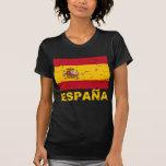 Spain Vintage Flag T Shirts
