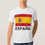 Spain Vintage Flag Tshirts