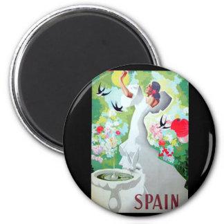 Spain Vintage Image 2 Inch Round Magnet