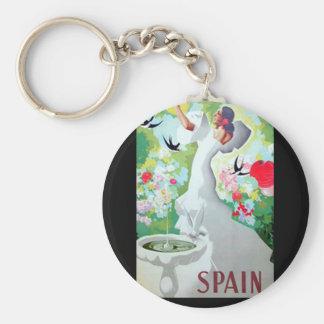 Spain Vintage Image Keychain