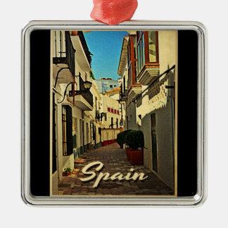 Spain Vintage Travel Metal Ornament