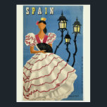 "SPAIN Vintage Travel postcard<br><div class=""desc"">Made of a public domain image of a vintage travel poster. Using the &quot;customize it&quot; function,  you can add your own text if you wish.</div>"