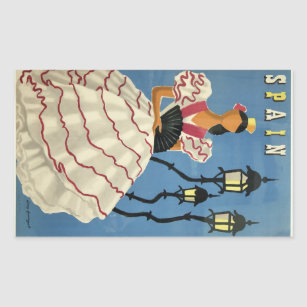 SPAIN Vintage Travel stickers