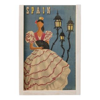 SPAIN Vintage Travel wooden keepsake box