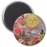 Spain Vintage Trendy Spanish Travel Collage 2 Inch Round Magnet