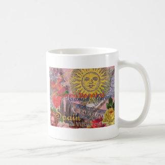 Spain Vintage Trendy Spanish Travel Collage Coffee Mug