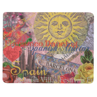 Spain Vintage Trendy Spanish Travel Collage Journal