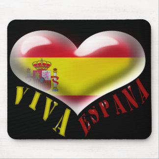Spain Viva Espana Flag-colored Heart Mousepad