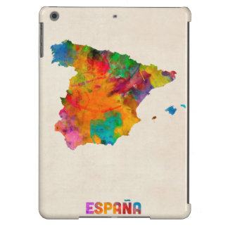 Spain Watercolor Map iPad Air Covers