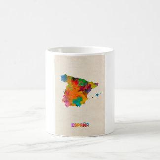 Spain Watercolor Map Coffee Mug