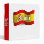 Spain Waving Flag 3 Ring Binder