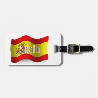 Spain Waving Flag Luggage Tag