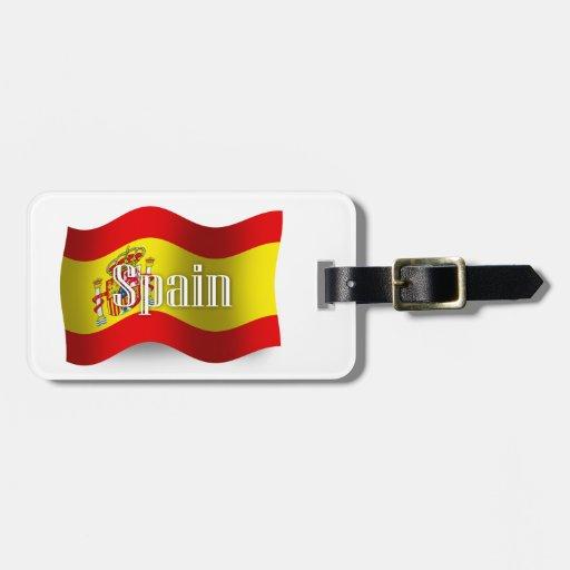 Spain Waving Flag Luggage Tags