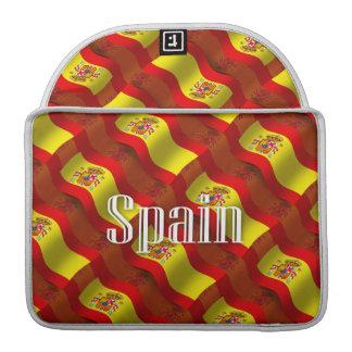 Spain Waving Flag MacBook Pro Sleeves