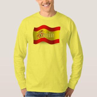 Spain Waving Flag T-Shirt