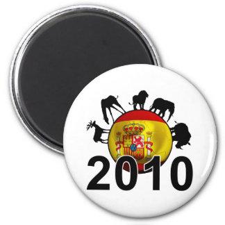 Spain World 2010 2 Inch Round Magnet
