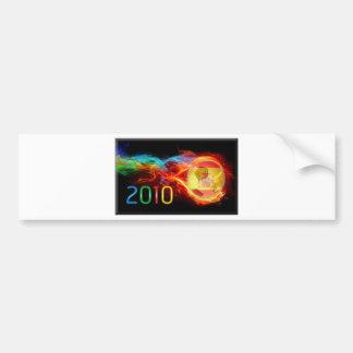 Spain World 2010 Champions Car Bumper Sticker