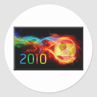 Spain World 2010 Champions Classic Round Sticker