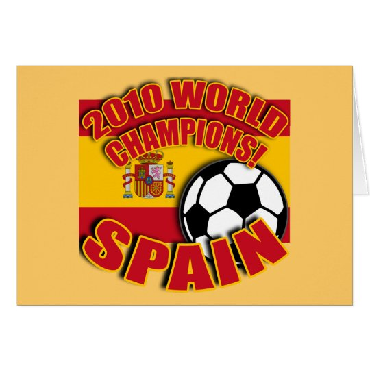 SPAIN WORLD CHAMP 2010 Soccer Tshirts Card