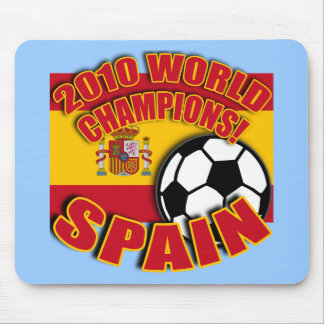 SPAIN WORLD CHAMP 2010 Soccer Tshirts Mouse Pad