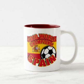 SPAIN WORLD CHAMP 2010 Soccer Tshirts Two-Tone Coffee Mug