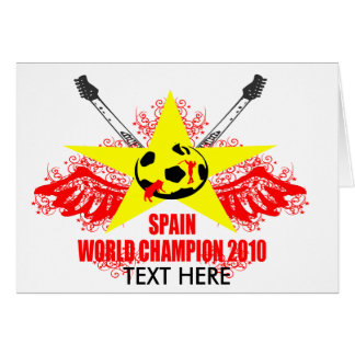 SPAIN WORLD CHAMPION 2010 GREETING CARD