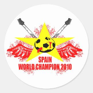 SPAIN WORLD CHAMPION 2010 CLASSIC ROUND STICKER
